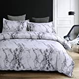 Bedding Duvet Cover Set King,Grey Marble Duvet Cover Set Hypoallergenic Microfiber - Hotel Quality - Luxurious, Comfortable, Breathable,Soft and Extremely Durable (King No Comforter)