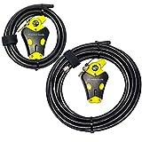 Master Lock - Two Python Adjustable Cable Locks Keyed Alike, 1-6ft, 1-20ft, 8413KACBL-6-20