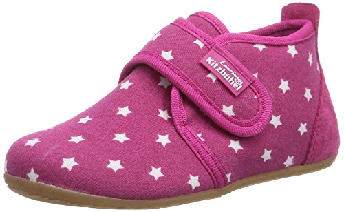 Living Kitzbühel Babyklettschuh Stern - Zapatos primeros pasos de lona para niño rosa - Pink (365 bubblegum)