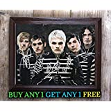 My Chemical Romance The Black Parade Autographed Signed Reprint 8x10 Photo #51 Special Unique Gifts Ideas for Him Her Best Friends Birthday Christmas Xmas Valentines Anniversary Fathers Mothers Day