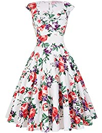 50s Style Vintage Dresses Sweetheart Neck BP105 (Multi-Colored)