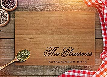 Custom Cutting Board Personalized Housewarming Gifts Engraved Cutting Boards Christmas Gifts New House Gift
