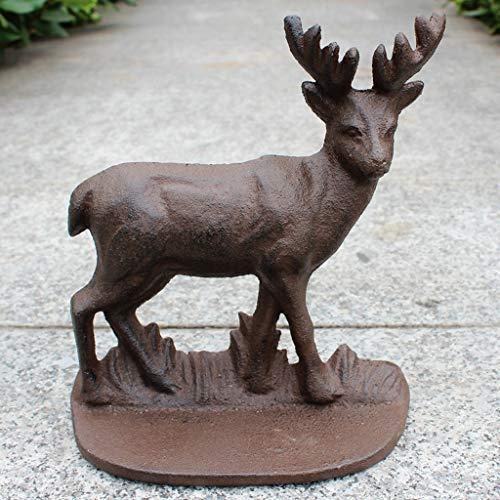 C&Q CQ Creative European Cast Iron Craft Wrought Iron Vintage Door Stop Home Garden Deer Decoration Ornaments from C&Q