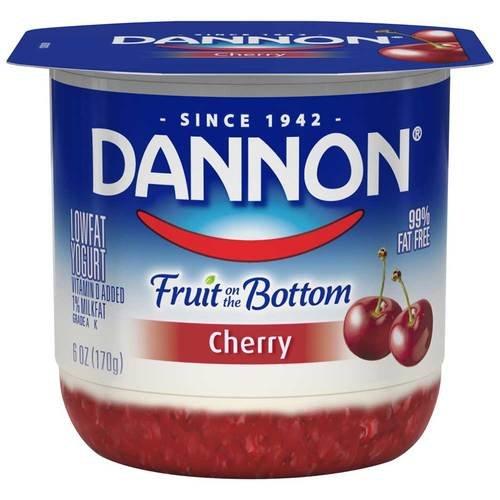 Dannon Fruit on the Bottom Cherry Yogurt, 6 Ounce -- 12 per case.