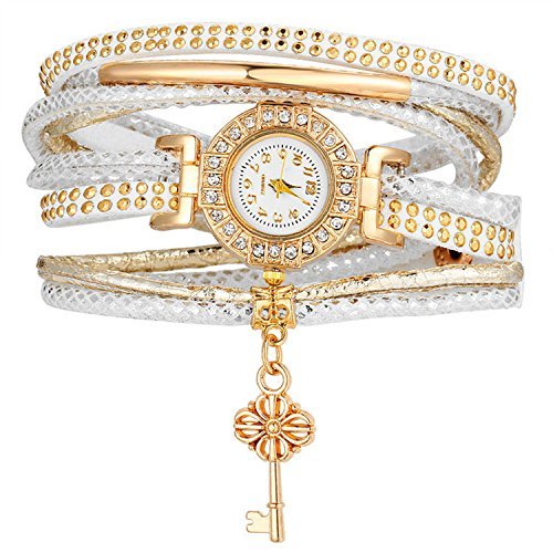 Price comparison product image Aworth Fashion Lock Crystal Watch Bracelet Multilayer Bracelet For Women Charm Bracelets & Bangles Vintage Pulseras Femme Jewelry AJCS013
