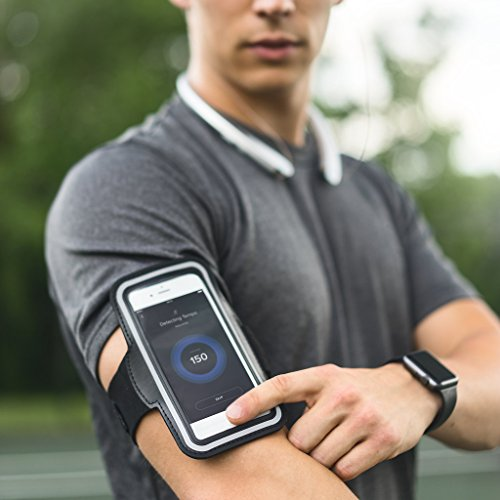 Large Product Image of Tribe AB66 Water Resistant Sports Armband with Key Holder for iPhone 8 Plus, 7 Plus, 6 Plus, 6S Plus (5.5-Inch), Galaxy S6/S5, Note 4 Bundle with Screen Protector