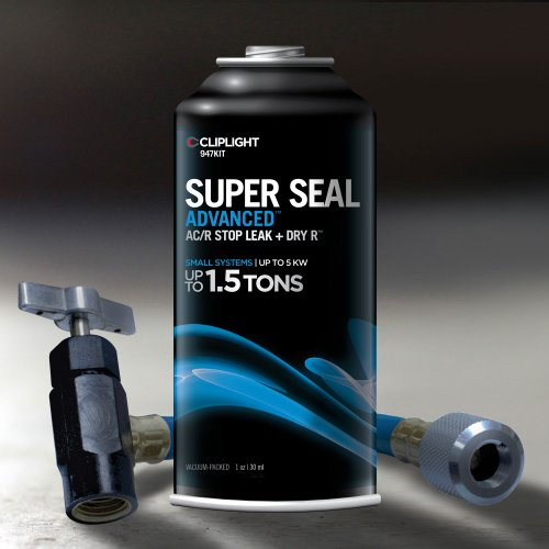 Cliplight Super Seal Advanced 947KIT - Permanently Seals & Prevents Leaks in A/C & Refrigeration Systems - Up to 1.5 TONS