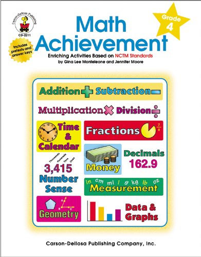 Math Achievement, Grade 4: Enriching Activities Based on NCTM Standards - Nctm Math Activities