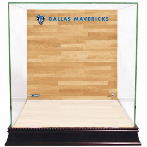 Steiner Sports NBA Dallas Mavericks Glass Basketball Display Case with Team Logo on Court (Steiner Sports Basketballs)