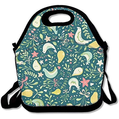 Johnnie Partridges and Pears Travel Picnic Lunch Bag Lunchboxes Outdoor Lunch Box Bag Lunch Tote Lunch Pouch Handbag (Shopping Partridge Family Bag)