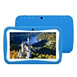 7' Kids Tablet PC, Fenghong Android 4.4 4GB ROM 512MB RAM Tablet with Dual Camera WIFI USB Phablet With Silicone Case