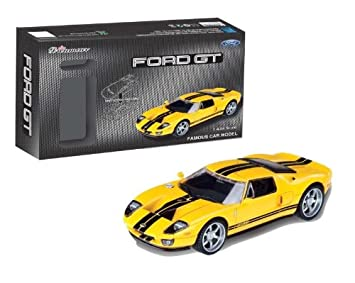 Pro Team  Ford Gt Yellow Self Assembly Car Model Modelling Kit