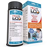 11 Parameter Urine Test Strips for Urinalysis 155 Count.Urinary Tract Infection(UTI) Reagent Strips for Urine Glucose, pH, Ketones, Protein, Kidney Problems, Stones, Gallbladder, Diabetes, and More
