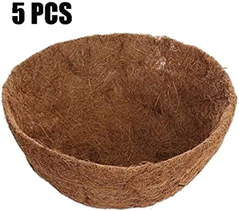 Coco Liners for Planters,12 Round Coco Fiber Hanging Basket Liner Replacement