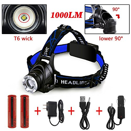 Ultra Bright Headlamp With Rechargeable Batteries Dland