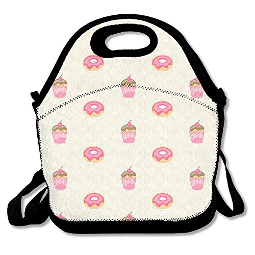 Cupcakes And Donuts Lunch Bag Adjustable Strap