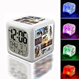 Best Knight Alarm Clocks - Wake Up Alarm Thermometer Night Glowing Cube 7 Review