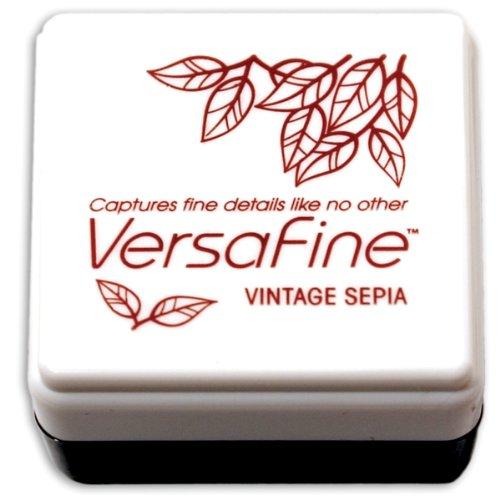 Tsukineko Small-Size VersaFine Instant Dry Pigment Ink, Vintage Sepia
