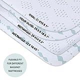 Bassinet Sheet Set 2 Pack 100% Jersey Cotton for