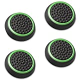 Fosmon [Set of 4] Analog Stick Joystick Controller Performance Thumb Grips for PS4 | PS3 | Xbox ONE, ONE X, ONE S, 360 | Xbox 360 | Wii U (Black & Green)