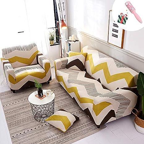 Funda Sofá de 3 plazas Universal Estiramiento, Morbuy Cubierta de Sofá Cubre Sofá Funda Furniture Protector Antideslizante Elastic Soft Sofa Couch ...