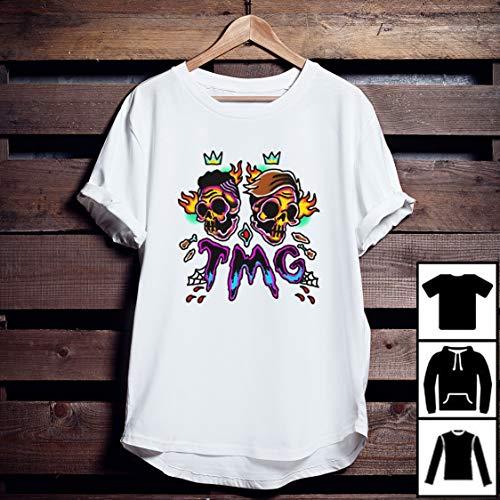 Tiny Meat Gang Traditional Skull Colorful Art T-Shirt Long T-Shirt Sweatshirt Hoodie
