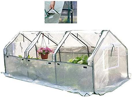 ウォークイン温室効果テント、植物成長ルーム付きジッパーシャッタードア、屋外バルコニーガーデン温室カバー、100×48×150CM