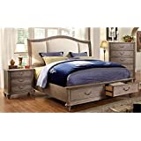 Furniture of America Bartrand 3 Piece California King Bedroom Set
