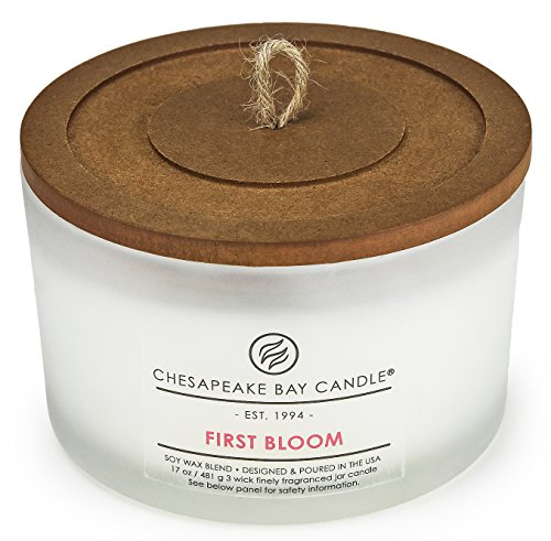 - Chesapeake Bay Candle 3-Wick Scented Candle, First Bloom, Coffee Table Jar