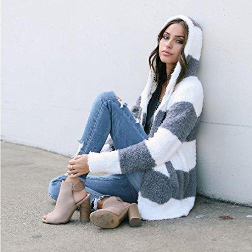 Barata capucha Sudaderas con Mujer K abrigo Invierno Mujer Oferta Ropa de Chaquetas Ropa Blanco youth® q7w7FfxIH
