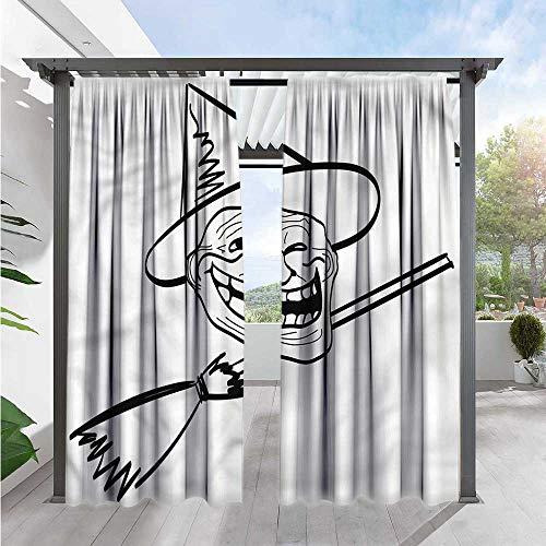 Marilds Humor Balcony Curtains Spooky Halloween Spirit Room Darkening, Noise Reducing 108