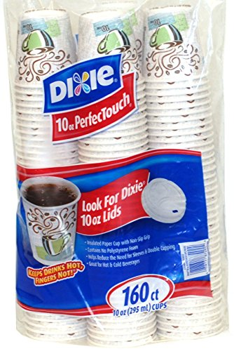 Dixie Perfect Touch Hot Cup (Dixie Perfectouch Hot Cups, 160 Count, 10 Ounce)