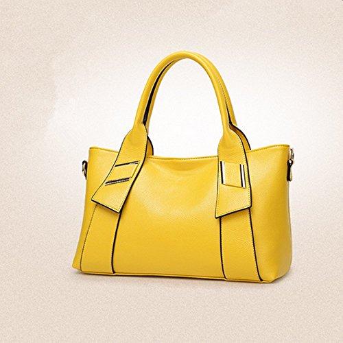 Eysee - Cartera de mano para mujer Rojo amarillo 36cm*22cm*12cm amarillo