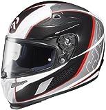 HJC Helmets Cage MC-1 Graphic RPHA 10 Full Face Helmet (Black/Red/Silver, Medium)