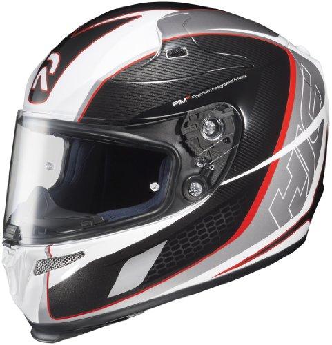 HJC Helmets Cage MC-1 Graphic RPHA 10 Full Face Helmet (Black/Red/Silver, X-Small) (10 Full Face Graphic Helmet)