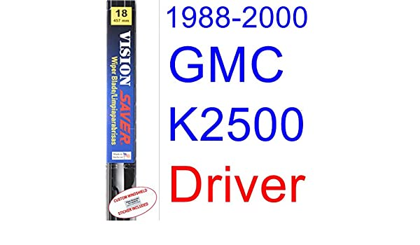 Amazon.com: 1988-2000 GMC K2500 Wiper Blade (Driver) (Saver Automotive Products-Vision Saver) (1989,1990,1991,1992,1993,1994,1995,1996,1997,1998,1999): ...