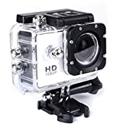 "Delta-Stark SJ4000+16gb TF Card Action Camera 12MP 1080P 1.5"" LCD 140 Degree Wide Angle Lens Waterproof Diving HD Camcorder Car DVR White"