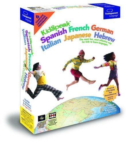 KidSpeak 6-in-1 Spanish, French, German, Italian, Japanese, Hebrew Language Tutor -Windows Only