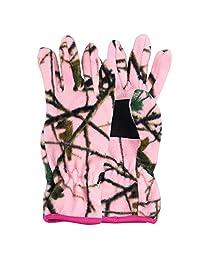 Women's Fleece Pink Camoflage Winter Gloves (Pink, Medium)
