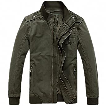 Men Autumn Jacket Men Casual Loose Stand Collar Army Military Jackets Plus Size M-3XL Windbreaker chaqueta hombre