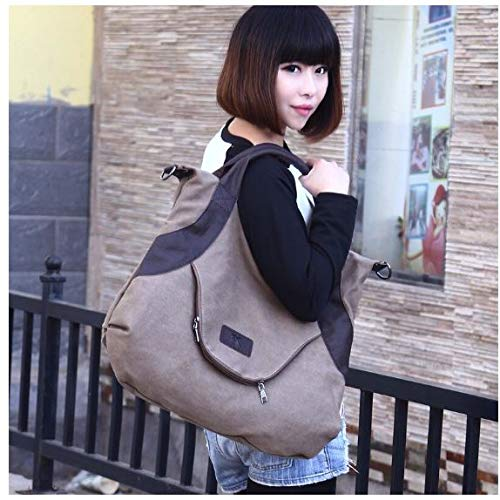 Large Pocket Casual Women's Outdoor Cross Body Shoulder Handbags Canvas Large Capacity Bags Street Womans Grey