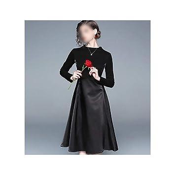 ZSRHH-Falda Vestido de Mujer Vestido pequeño Negro Vestido Antiguo ...