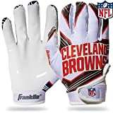 NFL Cleveland Browns Youth Receiver Gloves,White,Medium