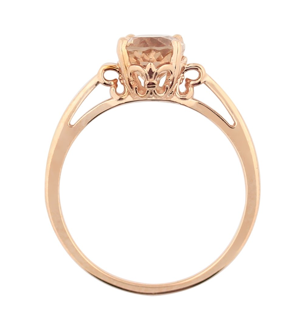 1ct Morganite 14K Rose Gold Ring (Size 6) by GNGJewel Morganite Collection