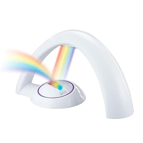 ZYANG - Proyector de arco iris con luz LED, luz colorida mágica ...