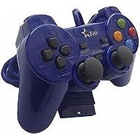 Controle com Fio para PS2 Feir - Azul - FR-206