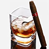 Whiskey Glass with Cigar Holder,Old Fashioned Crystal Cup,Gift for Cigar and Whiskey Lover (14 ounces/320ml Capacity)