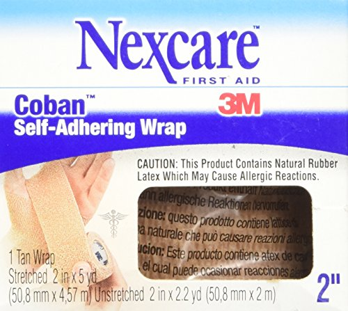 Nexcare Coban Self-Adherent Wrap, 2-Inch x 5-Yard Roll, 1 Count Box