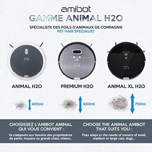 AMIBOT Animal XL H2O Connect - Robots Aspirateurs et laveurs spécial Poils d'animaux - Home Robots