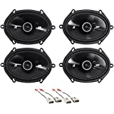 Kicker 6x8 Front+Rear Factory Speaker Replacement Kit For 1999-2003 Ford F-150